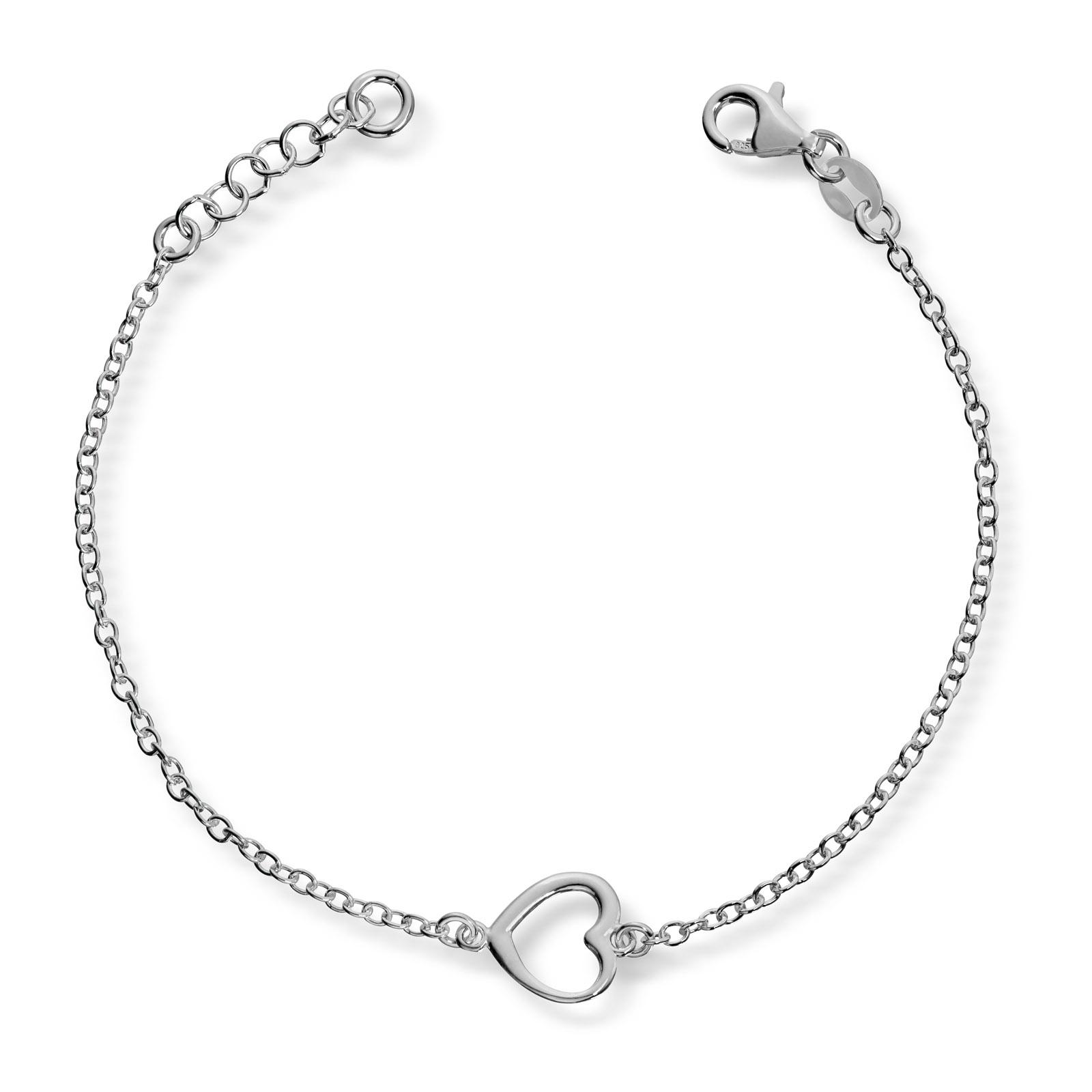 Mestergull Delikat armbånd med hjerte i sølv MG BASIC Armbånd