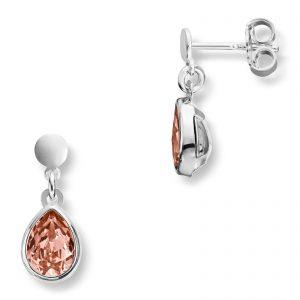 Mestergull Søt ørepynt i sølv med rosa swarovski krystaller MG BASIC Ørepynt