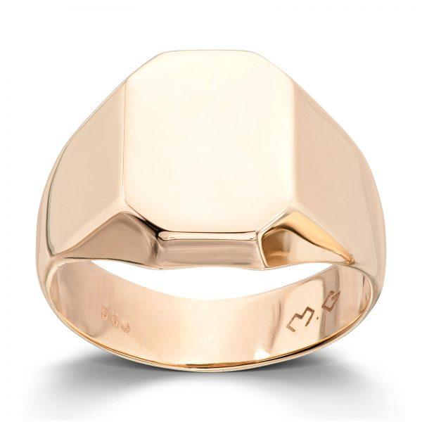 Mestergull Trendy unisex signetring i gult gull MESTERGULL Ring