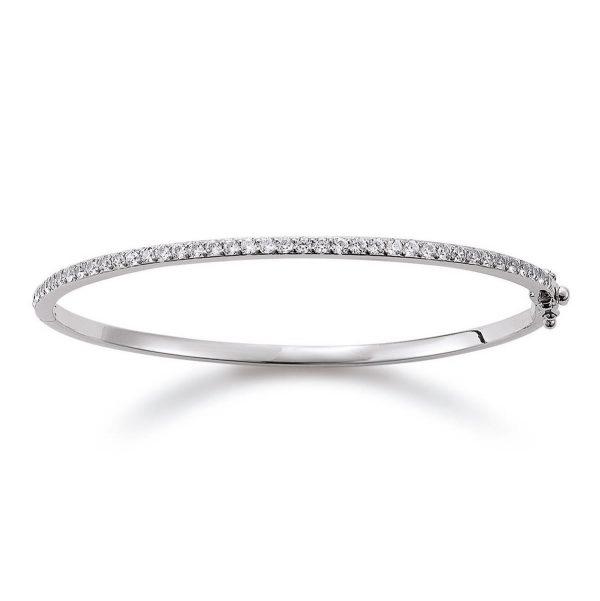 Mestergull Stilren armring i rhodinert sølv med cubic zirkonia VIVENTY Armring