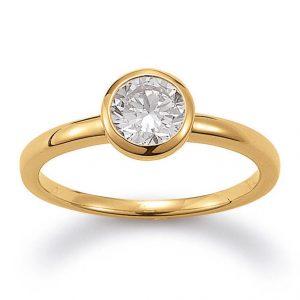 Mestergull Enkel ring i forgylt sølv med cubic zirkonia VIVENTY Ring