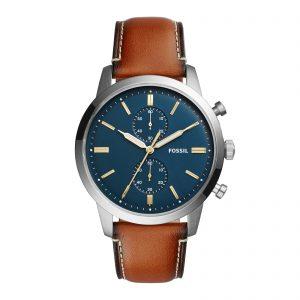 Mestergull Med en minimalistisk tilnærming basert på 1960-tallet, har vår Townsman dress ur en symmetrisk stil. FOSSIL Ur