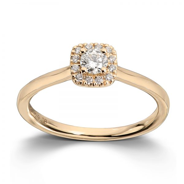 Mestergull Elegant ring i gult gull med diamanter MG DIAMONDS Ring