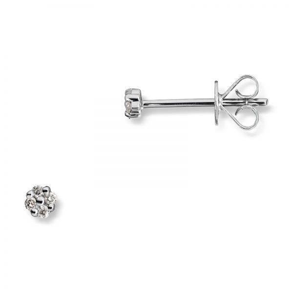 Mestergull Søte ørepynt i hvitt gull med diamanter MG DIAMONDS Ørepynt
