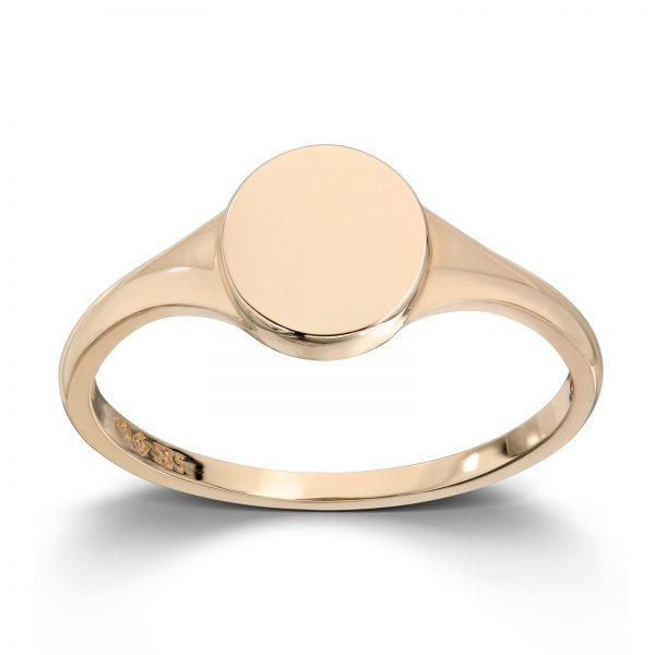 Mestergull Trendy signet ring i gult gull MESTERGULL Ring