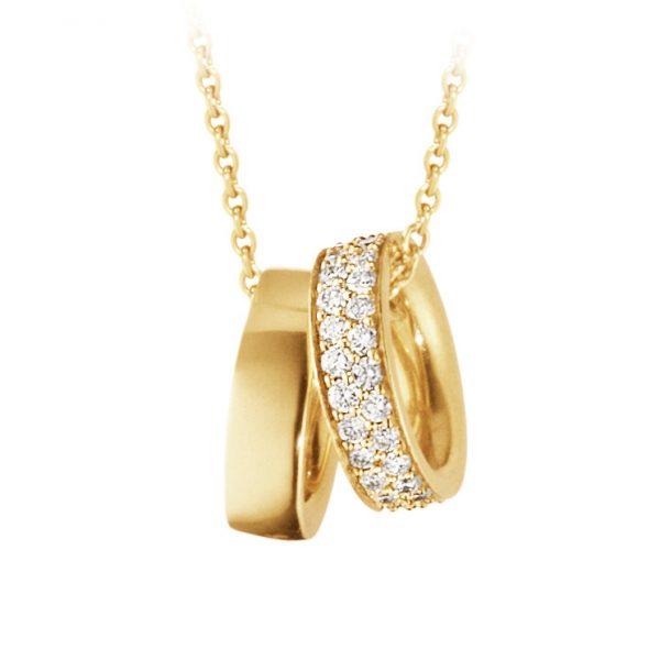 Mestergull Magic anheng i 18kt. gult gull med diamanter GEORG JENSEN Magic Anheng