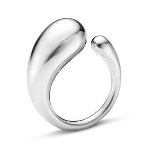 Mestergull Mercy Ring i sølv - Stor GEORG JENSEN Mercy Ring
