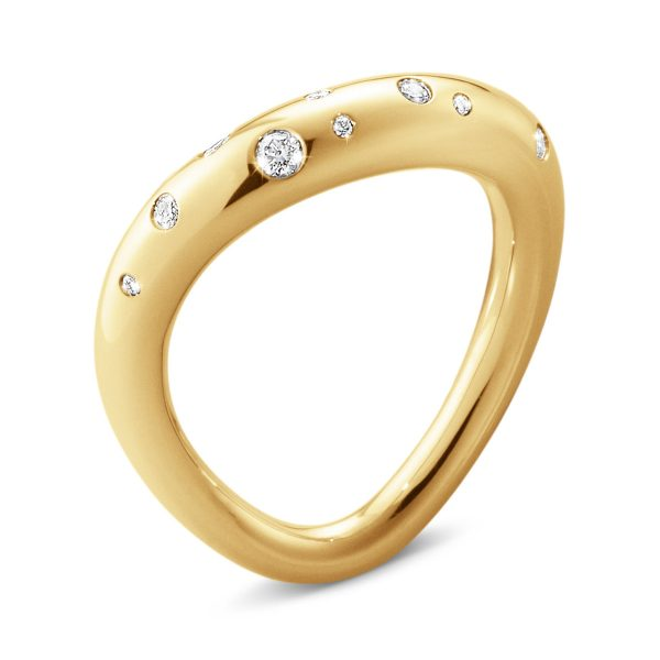 Mestergull Offspring Ring i gult gull med diamanter GEORG JENSEN Offspring Ring