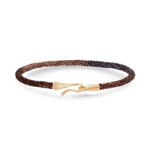 Mestergull Life armbånd med Gult gull lås i fargen Velvet (15, 17, 18, 19, 20 eller 21 cm) LYNGGAARD Life Armbånd