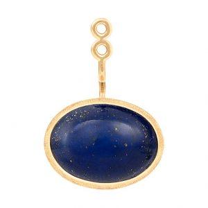 Mestergull Vedheng til Lotus ørepynt i 18 kt. Gult gull med lapis lazuli. Selges enkeltvis. LYNGGAARD Lotus Ørepynt