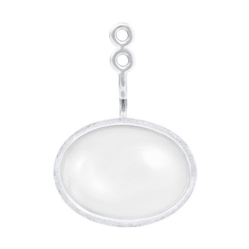 Mestergull Vedheng til Lotus ørepynt i 18 kt. Hvitt gull med hvit månesten. Selges enkeltvis. LYNGGAARD Lotus Ørepynt