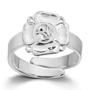 Mestergull Ring i sølv, modell Olsen, til Lierbunaden LOKAL BUNAD Ring