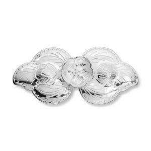 Mestergull Beltespenne i sølv til skinnbelte, gammel modell, til Lierbunaden LOKAL BUNAD Belte