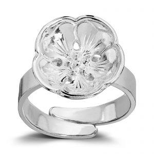 Mestergull Ring i sølv, gammel modell, til Lierbunaden LOKAL BUNAD Ring