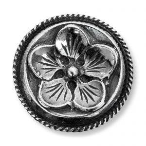 Mestergull Store Herreknapper i oksidert sølv til Lierbunaden LOKAL BUNAD Knapp