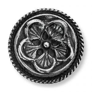 Mestergull Små Herreknapper i oksidert sølv til Lierbunaden LOKAL BUNAD Knapp