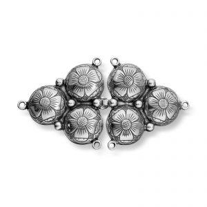 Mestergull Capespenne i oksidert sølv til Sunnmørsbunaden. LOKAL BUNAD Spenne