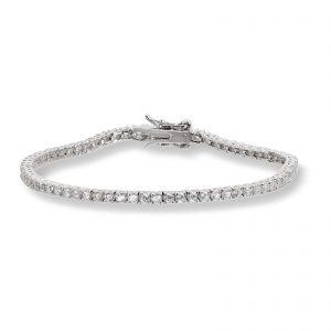 Mestergull Trendy armbånd i rhodinert sølv med cubic zirkonia GID Armbånd