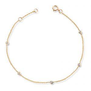 Mestergull Vakkert armbånd i gult gull med diamanter MG DIAMONDS Armbånd