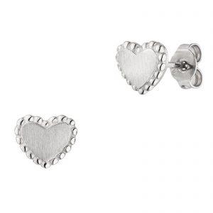 Mestergull Flott hjerteørepynt i rhodinert sølv VIVENTY Ørepynt