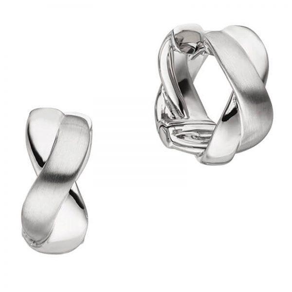 Mestergull Elegante øreringer i rhodinert sølv VIVENTY Ørepynt