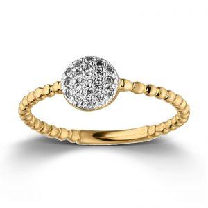 Mestergull Delikat ring i forgylt sølv med cubic zirkonia VIVENTY Ring