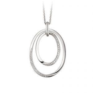 Mestergull Lekkert anheng i rhodiner sølv med cubic zirkonia VIVENTY Anheng