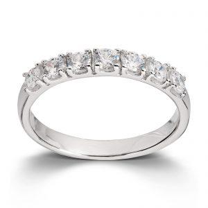 Mestergull Klassisk ring i rhodinert sølv med cubic zirkonia MESTERGULL Ring