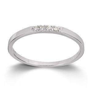 Mestergull Flott ring i hvitt gull med cubic zirkonia MESTERGULL Ring