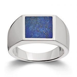 Mestergull Tøff herrering i sølv med lapis MESTERGULL Ring