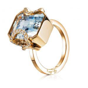 Mestergull Magic from the earth. Beautiful coloured stones unites fantasy and reality. Diamonds like stars in the night. A wish come true. - Efva Attling EFVA ATTLING Magic Star Ring