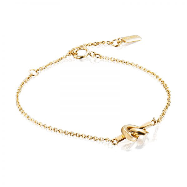 Mestergull A love knot for the hope that we always keep together. - Efva Attling EFVA ATTLING Love Knot Armbånd