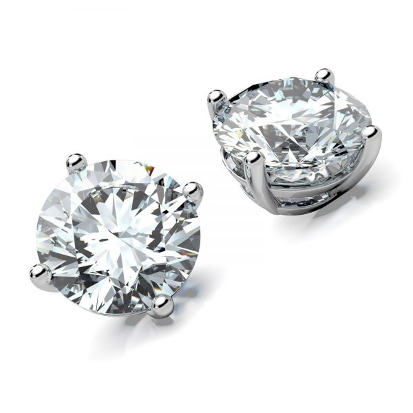 Mestergull Ørepynt spesialdesignet for store diamanter. Smykket er utført i hvitt gull 585 og 2 brillianter. Totalt 4,24 ct. HVS1 DESIGN STUDIO Spesialdesign Ørepynt