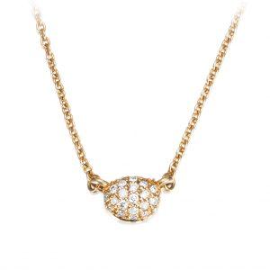 Mestergull Love Beads in 18k gold with diamonds as stars. - Efva Attling EFVA ATTLING Love Bead Kjede