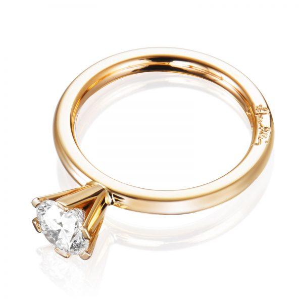 Mestergull Solitaire ring 1.00 ct EFVA ATTLING High On Love Ring