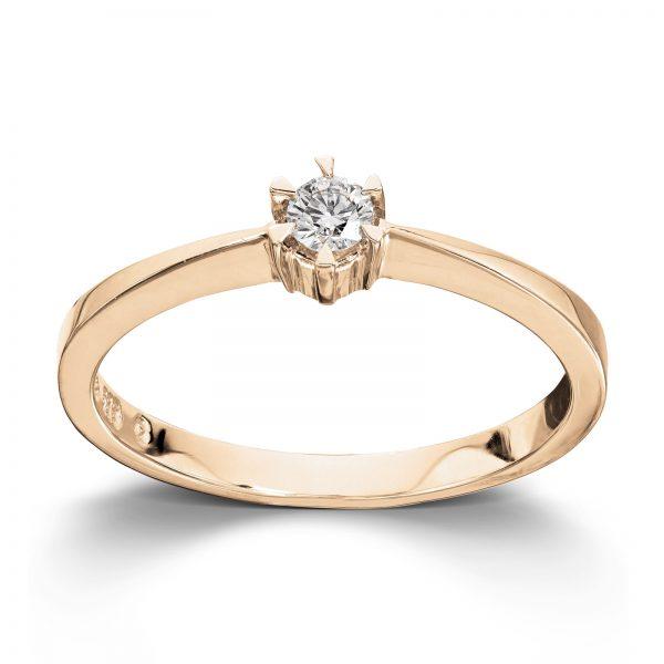 Mestergull Klondike er serien med de gode prisene. Solitaireserien kombinerer gult gull og diamanter i kvaliteten JP1 i str. 0,03 ct. til 0,20 ct. KLONDIKE Ring