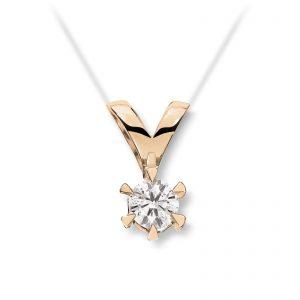Mestergull Klondike er serien med de gode prisene. Solitaireserien kombinerer gult gull og diamanter i kvaliteten JP1 i str. 0,03 ct. til 0,20 ct. KLONDIKE Anheng