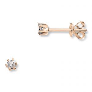 Mestergull Klondike er serien med de gode prisene. Solitaireserien kombinerer gult gull og diamanter i kvaliteten JP1 i str. 0,03 ct. til 0,20 ct. KLONDIKE Ørepynt