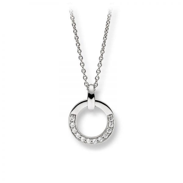 Mestergull Elegant anheng i rhodinert sølv med cubic zirkonia VIVENTY Anheng