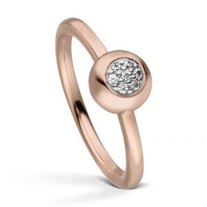 Mestergull Flott ring i rosè forgylt sølv med cubic zirkonia VIVENTY Ring