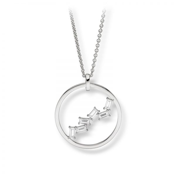 Mestergull Delikat anheng i rhodinert sølv med cubic zirkonia VIVENTY Anheng