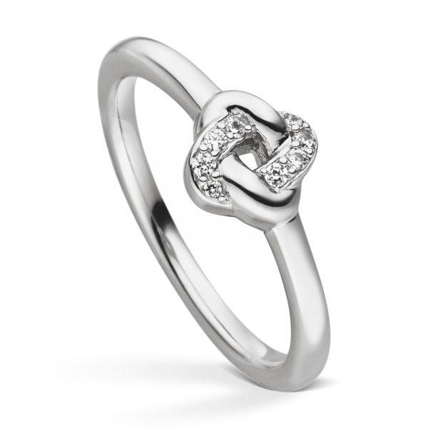 Mestergull Vakker ring i rhodinert sølv med cubic zirkonia VIVENTY Ring
