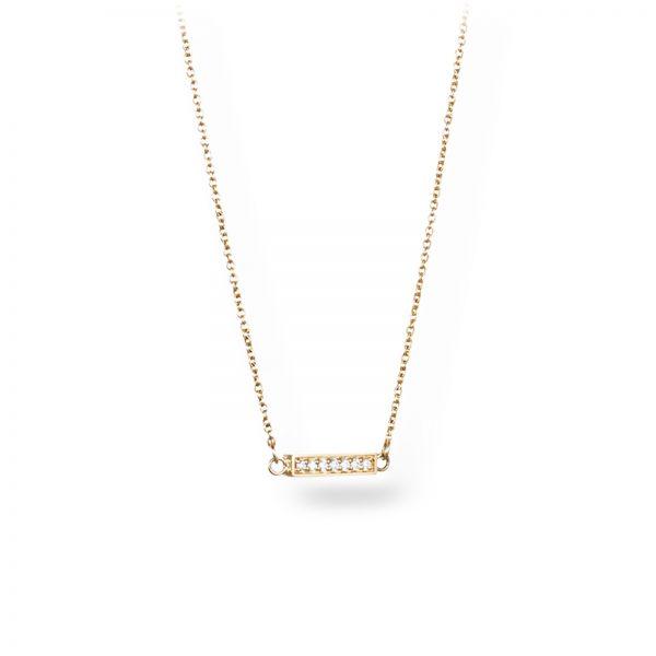 """Mestergull Vakkert kjede i gult gull - """"Simplicity with tiny diamonds"""" - Efva Attling EFVA ATTLING Thin Kjede"""