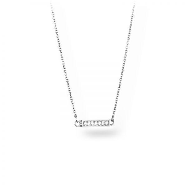 """Mestergull Vakkert kjede i hvitt gull - """"Simplicity with tiny diamonds"""" - Efva Attling EFVA ATTLING Thin Kjede"""