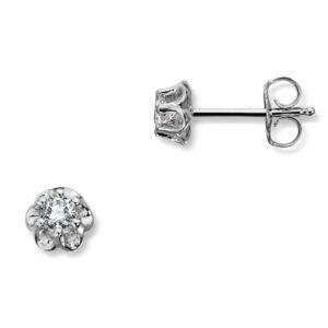 Mestergull Prinsesse er et klassisk enstens design med en elegant blondefatning i gult eller hvitt gull. I serien finnes matchende ring, anheng og ørepynt med diamanter i størrelse fra 0,03 ct. til 0,25 ct. Større størrelser spesiallages på vårt verksted. PRINSESSE Ørepynt