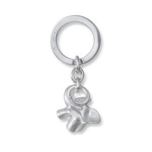 Mestergull Nøkkelring med elefant i sølv LYNGGAARD Charm