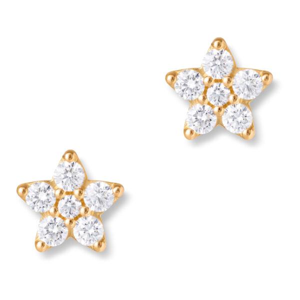 Mestergull Ørepynt Shooting Stars Giga i 18 kt. Gult gull med diamanter LYNGGAARD Shooting Stars Ørepynt