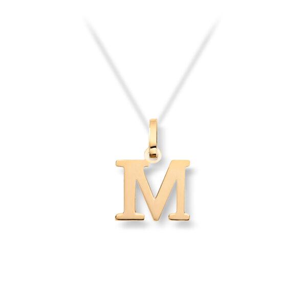 Mestergull Personlig bokstavanheng i gult gull MG BASIC Tegn/Bokstav Anheng