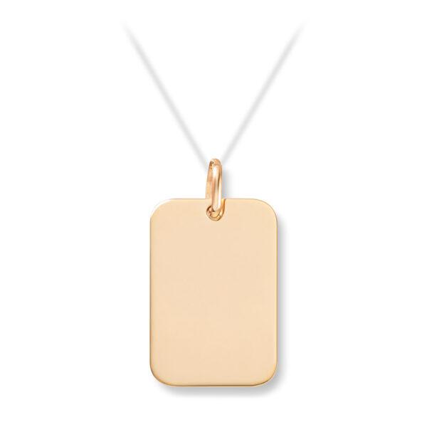 Mestergull Enkelt plateanheng i gult gull for herre MESTERGULL Anheng