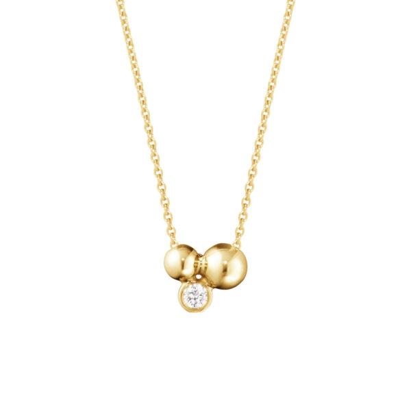 Mestergull Moonlight Grapes anheng i 18 kt. gult gull med diamanter GEORG JENSEN Grape Anheng